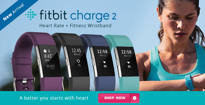 New Arrival Fitbit Charge 2 Heart Rate + Fitness Wristband
