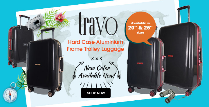 Travo Hard Case Aluminium Frame Trolley Luggage