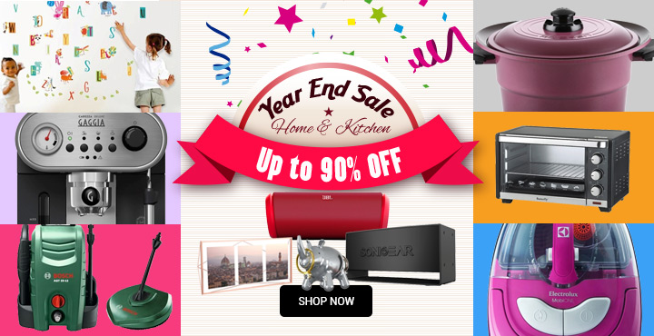 Up to 90% Off Home & Kitchen Year End Sale