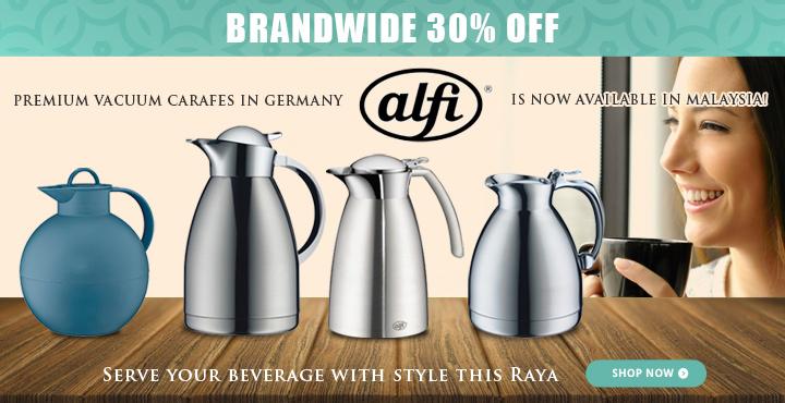 30% OFF alfi Premium vacuum carafes in German