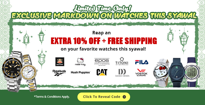 Exclusive Markdown On Watches This Syawal