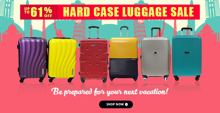UP TO 61% OFF Hard Case Luggage Sale