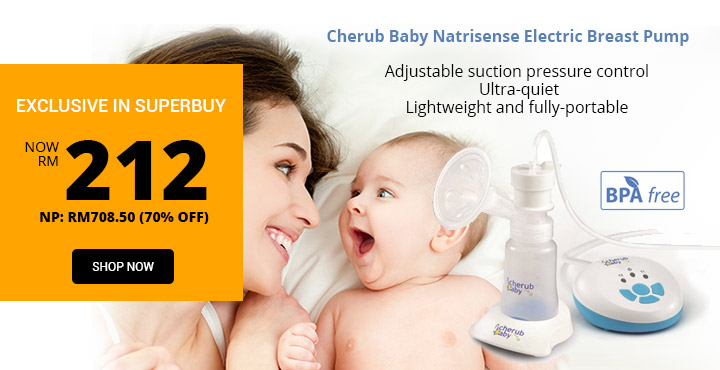EXCLUSIVE IN SUPERBUY Cherub Baby Natrisense Electric Breast Pump