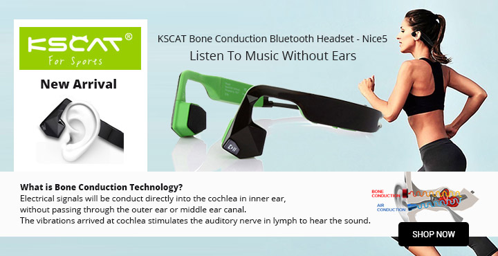 New Arrival KSCAT Bone Conduction Bluetooth Headset - Nice5