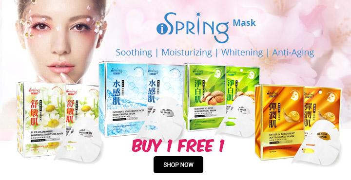 BUY 1 FREE 1 iSPRING Mask