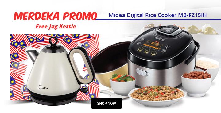 Merdeka promo Midea Digital Rice Cooker MB-FZ15IH