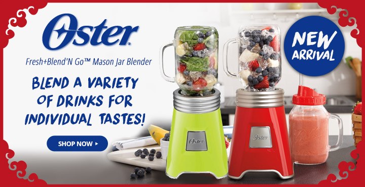 New Arrival Oster Fresh+Blend'N Go Mason Jar Blender