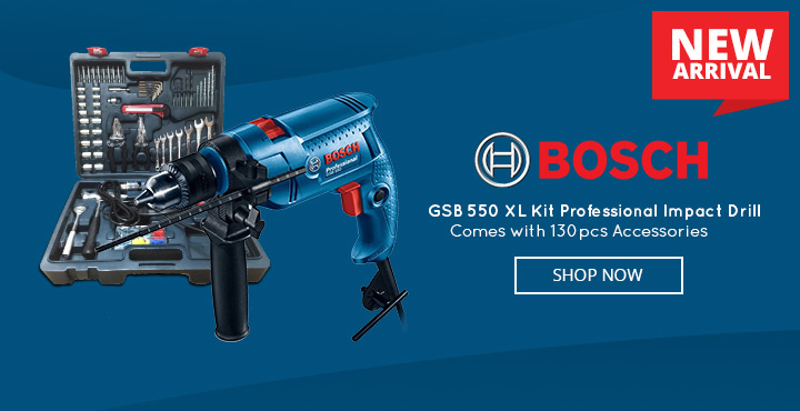 New Arrival Bosch GSB 550 XL Kit Professional Impact Drill with 130pcs Accessories